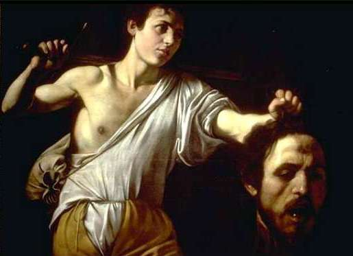 David with the head of Goliath, by Caravaggio